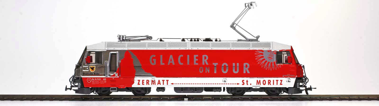"Bemo 1359161 RhB Ge 4/4 III 651 ""Glacier on Tour"" Ausf. 2012, digital mit Sound"