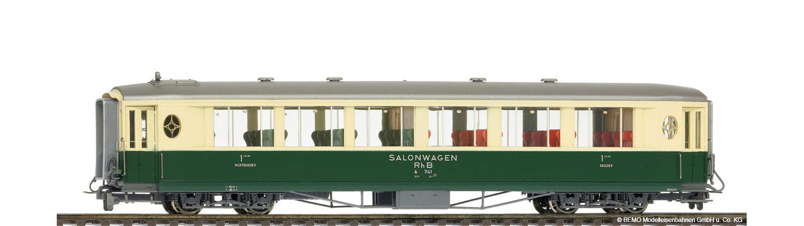 Bemo 3272102 RhB As 1142 Salonwagen