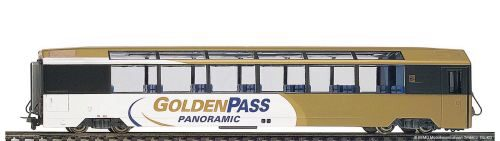 "Bemo 3588311 MOB Bs 251 Panoramawagen ""GoldenPass Panoramic"" 3L-WS"