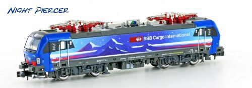 Hobbytrain 2999 SBB E-Lok Re475 Vectron SBB Cargo Night Piercer Ep.VI