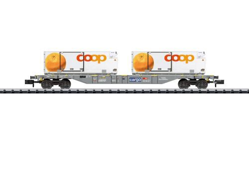 "Minitrix 15469 Containertragwagen ""coop"""