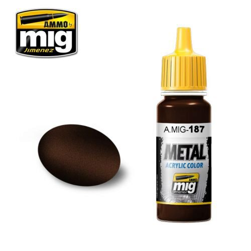 Ammo AMIG0187 Metal Acryl Farbe JET EXHAUST BURNT IRON (17 mL)
