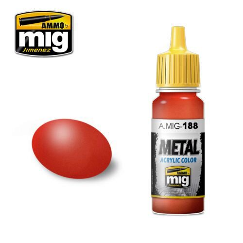 Ammo AMIG0188 Metal Acryl Farbe METALLIC RED (17 mL)