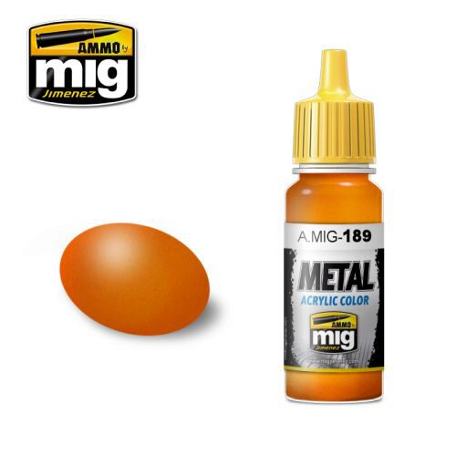 Ammo AMIG0189 Metal Acryl Farbe METALLIC ORANGE (17 mL)