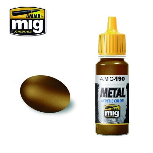 Ammo AMIG0190 Metal Acryl Farbe OLD BRASS (17 mL)