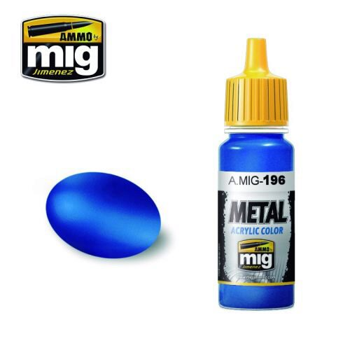 Ammo AMIG0196 Metal Acryl Farbe WARHEAD METALLIC BLUE (17 mL)