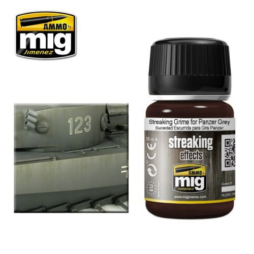 Ammo AMIG1202 ENAMEL  STREAKING GRIME FOR PANZER GREY (35 mL)