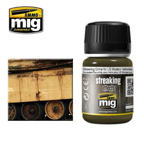 Ammo AMIG1207 ENAMEL STREAKING GRIME FOR US MODERN VEHICLES (35 mL)