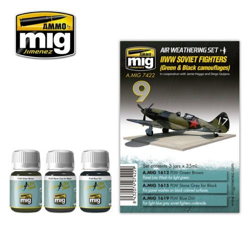 Ammo AMIG7422 WW II SOVIET AIRPLANES (Green & Black camouflages)
