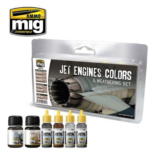 Ammo AMIG7445 JET ENGINES COLORS AND WEATHERING SET