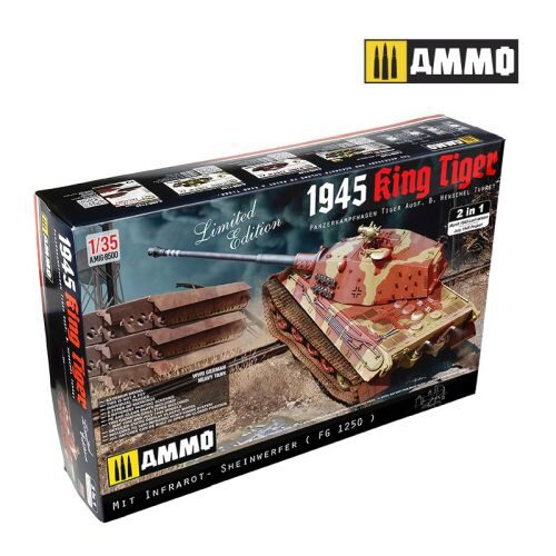 AMMO 8500 1/35 KING TIGER HENSCHEL 2 IN 1 (July 1945 P Mit Infrarot FG 1250 and May 1945 Last Version)