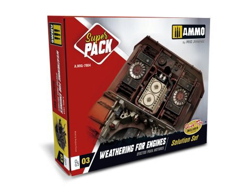 Ammo AMIG7804 WEATHERING ENGINES SUPER PACK