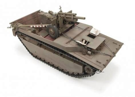 AFV-Club DH96008 LVT 4 Buffalo Carrying M2A1 105mm Howitz