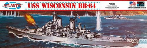 Atlantis 560463 1/535 USS Wisconsin, BB-64