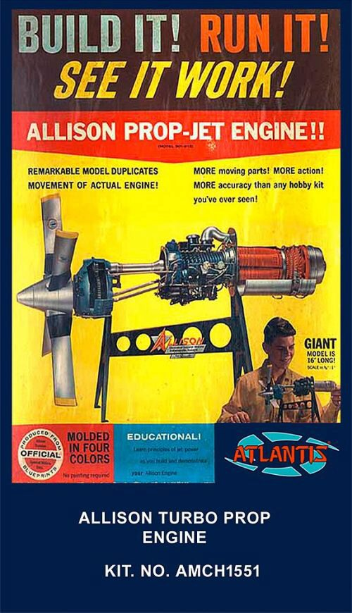 Atlantis 561551 1/10 Allison Turbo Prop Motor