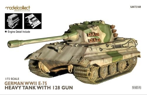Modelcollect UA72168 German WWII E-75 heavy tank with 128 gun