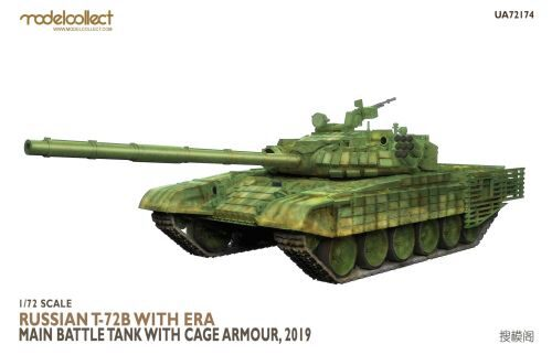 Modelcollect UA72174 Russian T-72B with ERA Main Battle Tank with cage armour, 2019