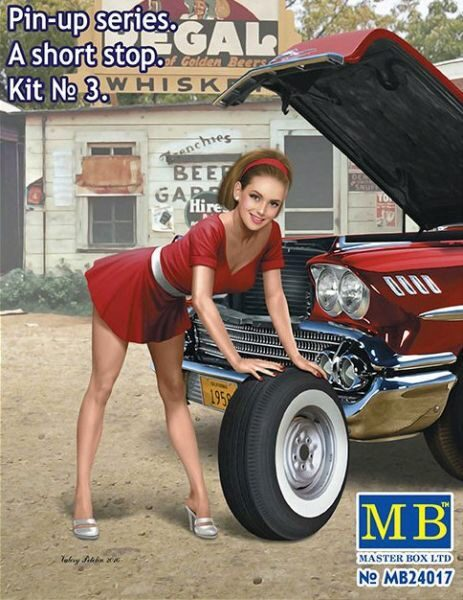 Master Box  MB24017 Pin-up series.A short stop.Kit No.3