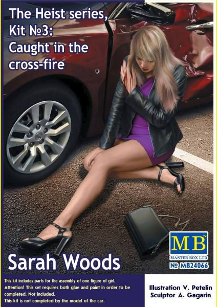 Master Box Ltd. MB24066 The Heist series,Kit#3Caught in the cross-fire. Sarah Woods