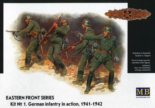 Master Box Ltd. MB3522 German Infantry in action 1941-1942 Eastern Front Series Kit No. 1