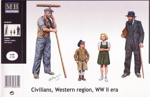 Master Box  MB3567 Civilians, Western region, WWII era