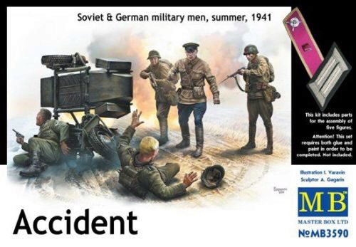 Master Box  MB3590 Accident. Soviet & German military men,