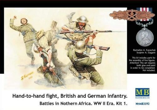 Master Box Ltd. MB3592 Hand-to-Hand fight, Brit. & Germ. infr.