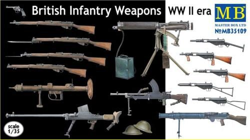 Master Box  MB35109 British infantry weapons, WWII era