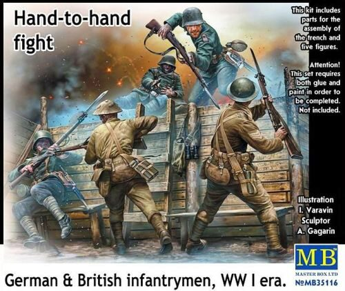 Master Box  MB35116 Hand-to-hand fight,German&British infant infantrymen, WWI era