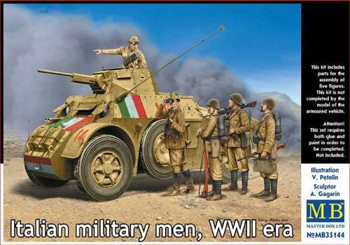 Master Box  MB35144 Italian military men,WWII era