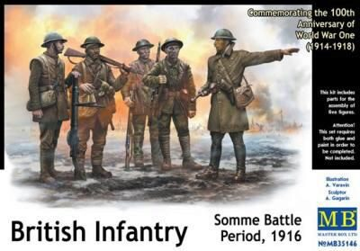 Master Box  MB35146 British infantry, Somme battle, 1916