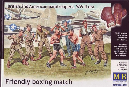 Master Box Ltd. MB35150 Friendly boxing match.Brit.+Amer.paratro