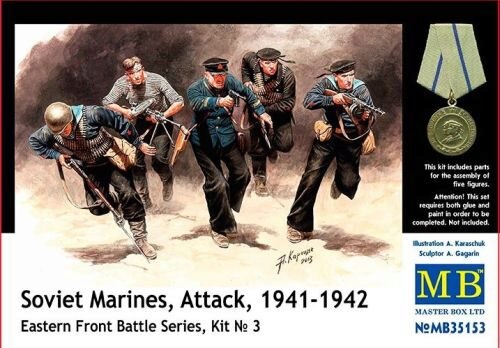 Master Box  MB35153 Soviet marinas Attack 1941-42 Easter Fro