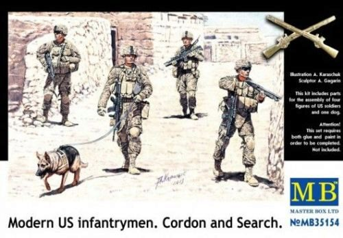 Master Box  MB35154 Modern U.S.infantrymen. Cordon and Searc