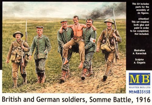 Master Box  MB35158 British and German soldiers,Somme Battle