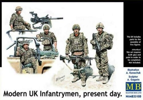 Master Box  MB35180 Modern UK infantrymen, present day