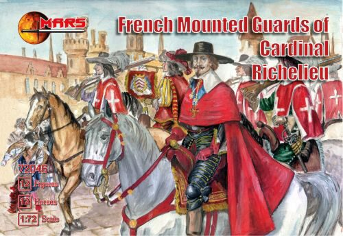 Mars Figures MS782046 French mounted guards of Card. Richelieu