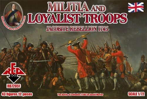 Red Box RB72051 Militia+Loyalist Troops 1745,Jacobite R.