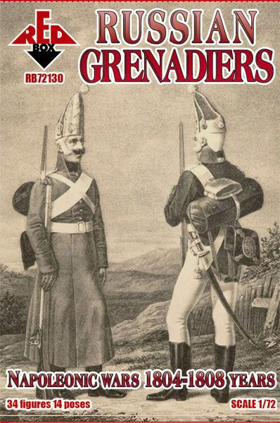 Red Box RB72130 Russian grenadiers, 1804-1808
