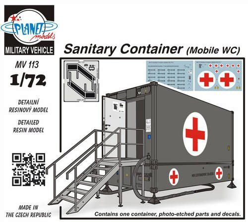 Planet Models MV113 Sanitary Container (Mobile WC)
