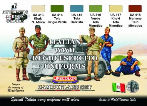 Lifecolor CS14 Acrylic colours Lifecolor for Italian uniforms CS14