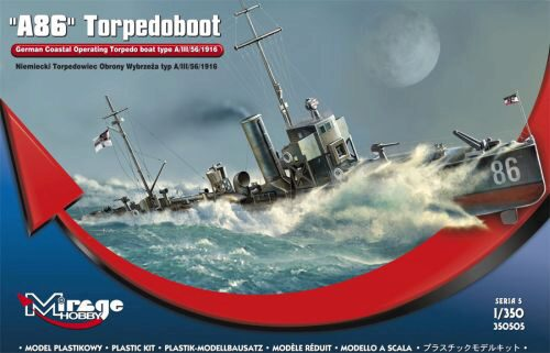 Mirage Hobby 350505 A 86 German Torpedoboat A/III Class