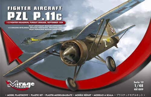 Mirage Hobby 481009 Fighter Aircraft PZL P.11c