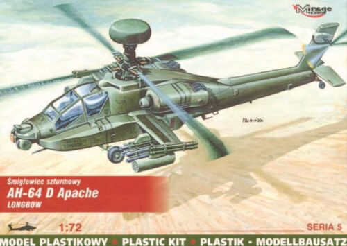 Mirage Hobby 72054 McDonnell Douglas AH-64 D Apache Longbow