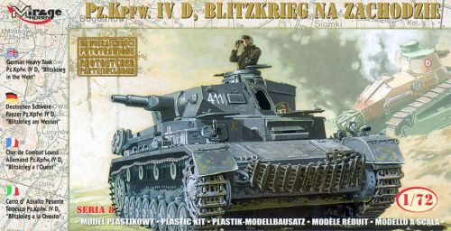 "Mirage Hobby 72854 German Tank Pz.Kpfw. IVD ""BLITZKRIEG"" in the WEST"