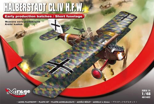 Mirage Hobby 481402 Halberstadt CL.IV H.F.W.(Early productio production batches/Short fuselage