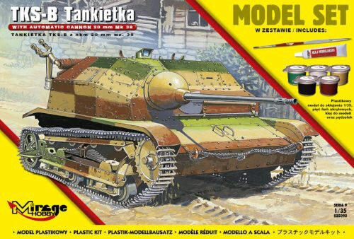 Mirage Hobby 835093 Tankette TKS-B(w/automatic cannon 20mm Mk.38) (Model Set)