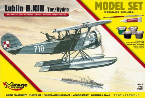 Mirage Hobby 848091 Lublin R.XIII Ter/Hydro Reconnaissance s seaplane (Model Set)