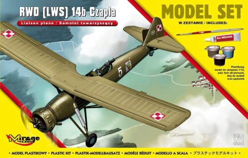 Mirage Hobby 872061 RWD (LWS) 14b CZAPLA (Liaison Plane) Subsonic Interceptor Aircraft