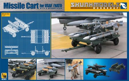 SKUNKMODEL Workshop SW-48004 MISSILE CART FOR USAF/NATO